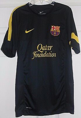 Nike Dri-Fit FC Barcelona Jersey Size Small Away Black 201112 Authentic