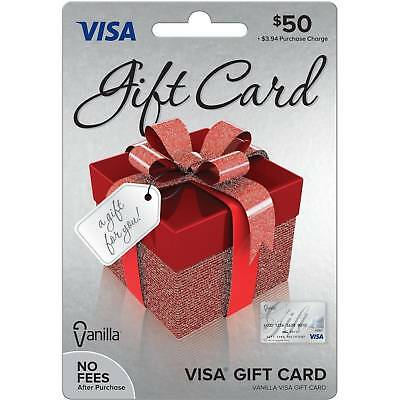 50 VISA CARD ready to use activated gift no fees FREE SHIPPING