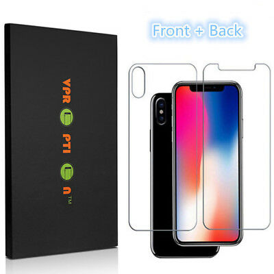 Premium Front - Back Tempered Glass Screen Protector iPhone X XS XR Max 7 8 Plus