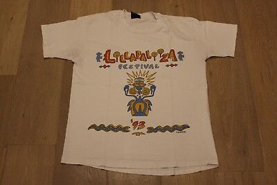 Vintage 1993 Lollapalooza Tee Size XL White T-shirt VTG 90s Alice in Chains Band