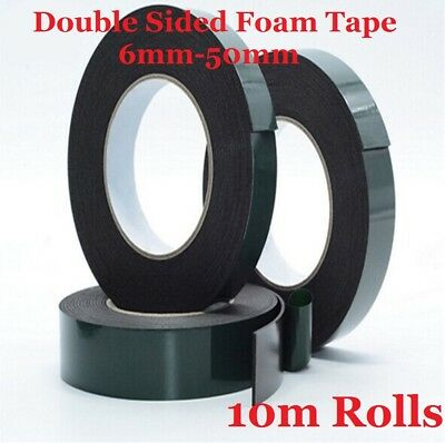 Black Double Sided Automotive Permanent Self-adhesive Foam Car Trim Body Tape