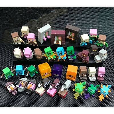 Minecraft Creeper Horse Cow Squid 36 PCS Game Figure Cake Topper Kids Gift Toys