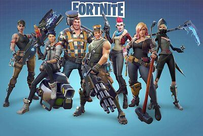 Fortnite Poster Battle Royale Game Wall Art Large Print 24x36