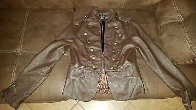 Wet Seal Brown small leather jacket