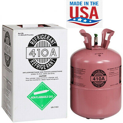 R410a R-410a R 410a Refrigerant 25lb tank- New Factory Sealed MADE IN USA