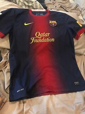 NEW Mens Nike FC Barcelona FCB Football Soccer Team Jersey Size Large