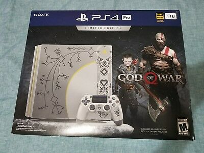 Sony PlayStation 4 Pro God of War Limited Edition Bundle 1TB GREAT CONSOLE