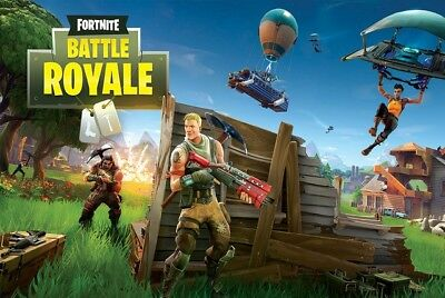 FORTNITE BATTLE ROYALE 24X36 POSTER GAMING FANTASY ACTION VIDEO GAME GIFT NEW