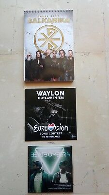 EUROVISION 2018 NETHERLANDS PRESS BOOKLET SERBIA NOTEBOOK CD INTERVAL ACT