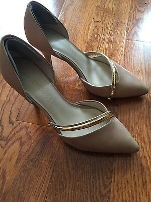 ALDO nude and gold high heels size 7