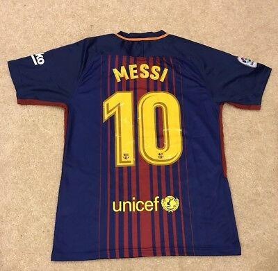 NWT - Barcelona FC 1718 Season Lionel Messi Mens Stadium Jersey Size XL