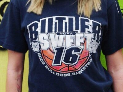 Butler University Bulldogs Vintage 2003 Sweet 16 NCAA March Madness Size Small C