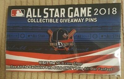 2018 MLB All Star Game Fanfest Exclusive  Pin New ERA Cap Baseball Only 500
