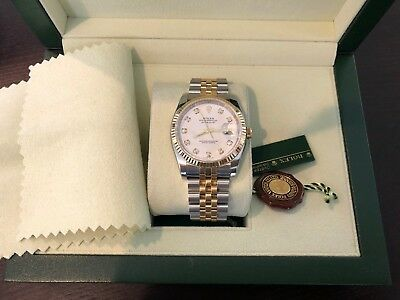 Rolex Datejust 36mm 116233 White Diamond Dial Box - Papers Great Condition