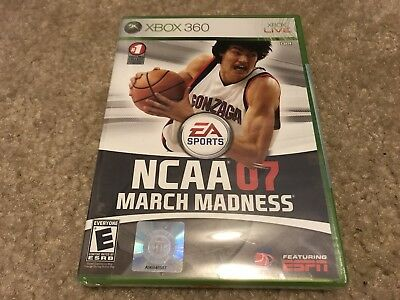 NCAA March Madness 07 Microsoft Xbox 360 2007 FREE SHIPPING NEW SEALED 2007
