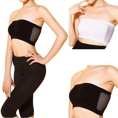 WOMENS SEAMLESS STRAPLESS TOP VEST BREATHABLE SPORTS BRAS BANDEAU TUBE NEUE