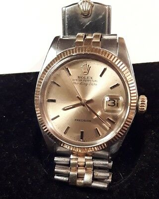 Rolex Air King Date Mens 14K Yellow Gold and  Stainless Steel Watch- 5701