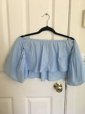 Zara bardot off shoulder crop top summer size S