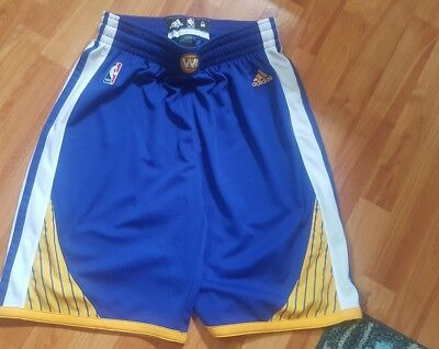 Mens Adidas NBA Shorts Golden State Warriors   Size M-