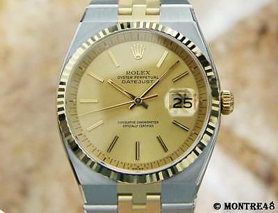 Rolex 1630 Swiss Made 14k Gold and Stainless St 36mm Auto 1978 Mens Watch JY251