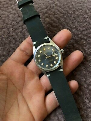 Rolex 15000 Date Charcoal Diamond Dial with TUDOR movement 1500