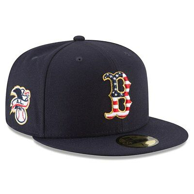 BOSTON RED SOX New Era 2018 Stars - Stripes 4th of July 59FIFTY Fitted Hat-Blue