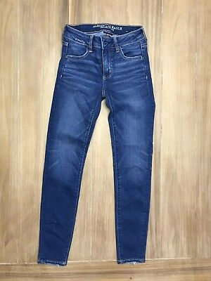 AMERICAN EAGLE OUTFITTERS GIRLS JEGGINGS JEANS - SIZE 0 Short