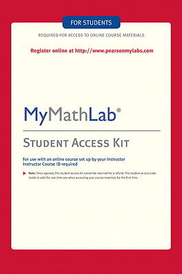 MyMathLab Student Access Code - eBook 1 Second Delivery  Read Before Buying