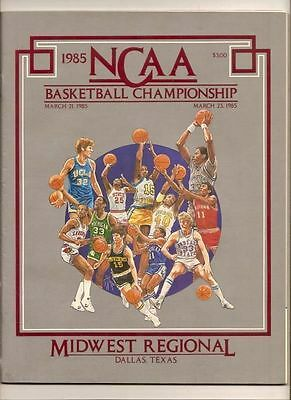 1985 NCAA Championship Tournament Midwest Regional Sweet 16 - Elite 8 Program