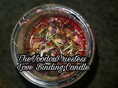 Fixed Love Binding Candle Come to me Stay Bind Control  Oil Herb Spell Magic