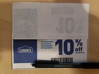 5-Pack Five Lowes 10 OffCoupons Expires 10-31-18 FAST