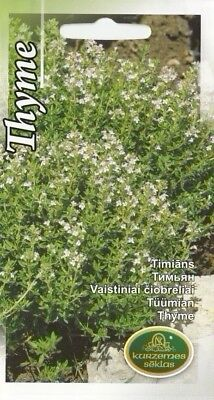 Herb Seeds Thyme Herbal For Kitchen Pot Garden Pictorial Packet UK