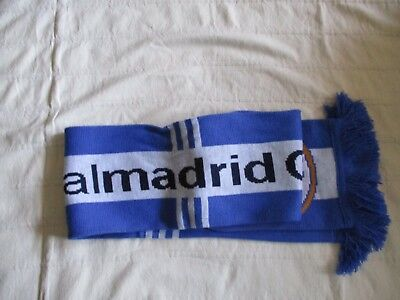 NWT REAL MADRID Official Team BlueWhite Scarve 100 Arcrylic One Size
