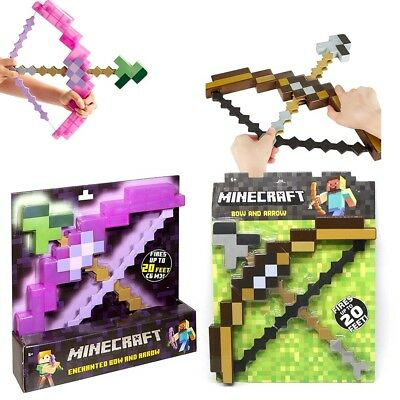 New Minecraft Enchanted Bow And Arrow Outdoor Kids Boys Birthday Gifts Toy US