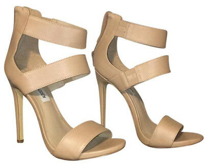 Steve Madden Nude Tan Strap Heel Sandal Size 8 - GREAT CONDITION