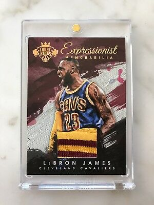 LEBRON JAMES - 2015-16 Court Kings Game Used PATCH Jersey Cavs Lakers 25 🔥🔥