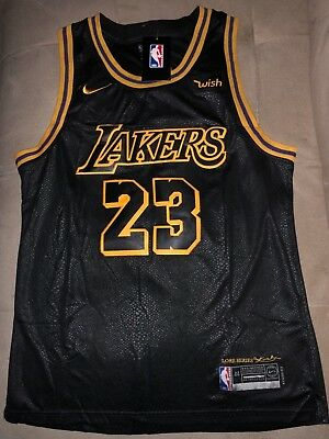Lebron James Lakers Jersey Los Angeles Away Gold - Black  Go LAKERS