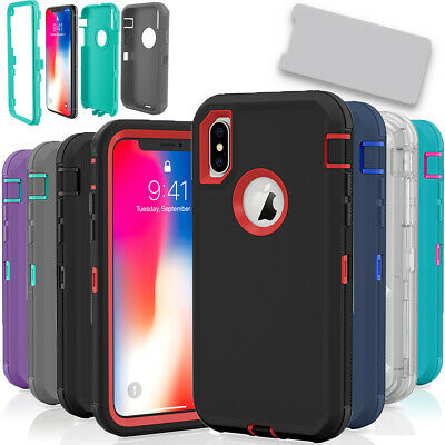 For Apple iPhone X  XS  XR Max 10S Case Protective Defender Shockproof Cover