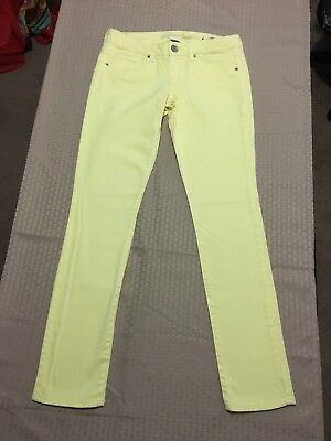 American Eagle Outfitters Woman's Stretch Skinny Yellow Jeans Size 6 Reg