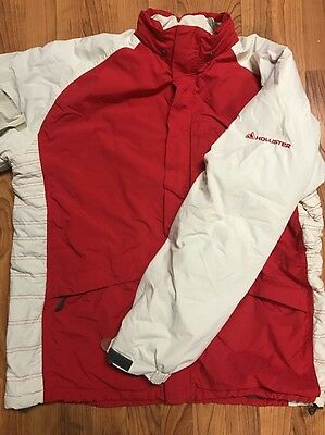 Hollister Co Snowboard Ski Jacket Red White Large L Free S-H