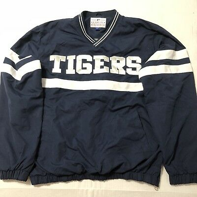 Detroit Tigers MLB Windbreaker Pullover Mens Large Free Shipping
