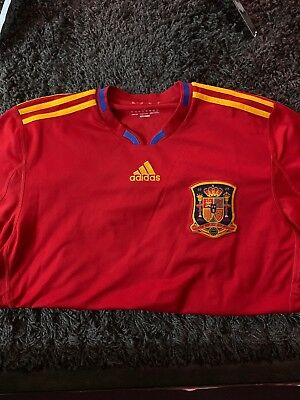 Adidas Spain football Soccer Jersey 2010 World Cup champions L GREAT CONDITION