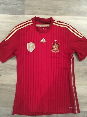 Spain World Cup 2014 Adidas Home Jersey Size Medium