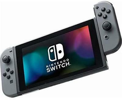 Nintendo Switch GRAY Console with controllers and power adapter