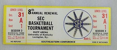 1986 0306 SEC Basketball Tournament Full Ticket - Session 3