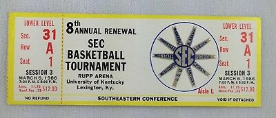1986 0308 SEC Basketball Tournament Full Ticket - Session 5