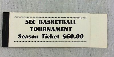 1986 SEC Basketball Tournament at Rupp Arena Season Ticket Cover and Stubs