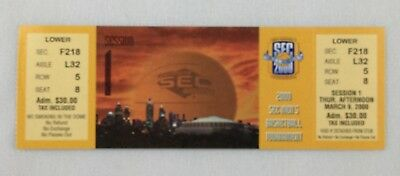 2000 0309 SEC Basketball Tournament Full Ticket - Session 1