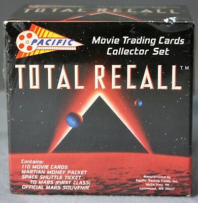 Total Recall Movie Arnold Schwarzenegger Trading Card Set 1990 Pacific sealed