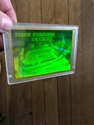 1994 DETROIT TIGERS Tiger Stadium Hologram Card WPlastic Case Blockbuster Promo